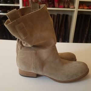 Alberto Fermani Umbria Suede Slouch Boots Booties